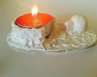 Candle holder Christmas igloo