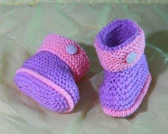 """Wool baby booties """"Blanket"""""""