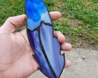 Stained Glass feather handmade