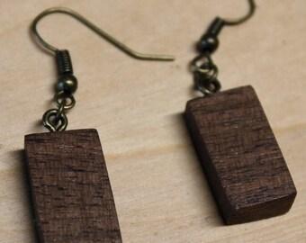 Simple Elegant Wood Earrings