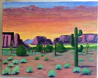 """Painting """"Desert Sunset"""""""