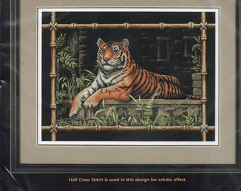 Bamboo Tiger Nature Themed Counted Cross Stitch Kit