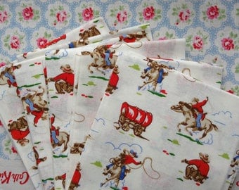 Cath Kidston Cowboy Cotton Lightweight Haberdashery Quilting fabric for lampshades, pillows, cushions