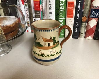 Vintage Torquay Pottery Pitcher Motto Ware
