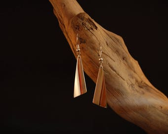 """Earrings original and handcrafted in Silver """"simplicity"""""""