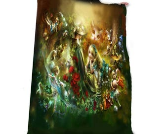 MEMORIES OF WONDERLAND Fleece Blanket / Throw / Tapestry