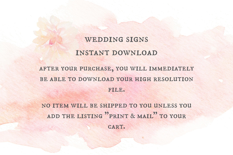 Wedding Program Sign Printable Chalkboard Signs Programs Print