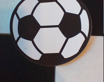 5 Pack of Color Cardstock Soccer Ball