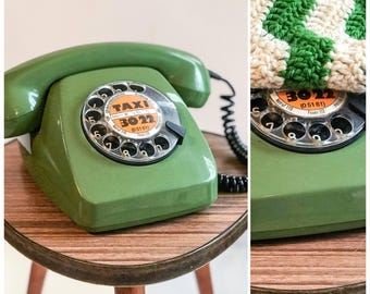 Dial Phone | Post FeTAp 611-2a C BP | Vintage Phone Olive Green | Telephone Deutsche Post | Dial Phone | Telephone device