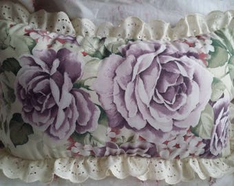 LOVELY LITTLE CUSHION SHABBY CHIC DOUBLE SIDED