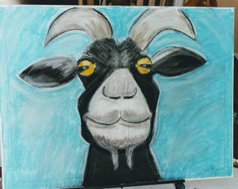 The Smiling Goat Painting