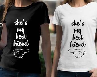 Best friend t shirts | Etsy