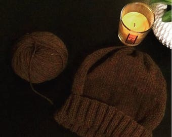 Merino - not dyed natural color sheep's wool hat