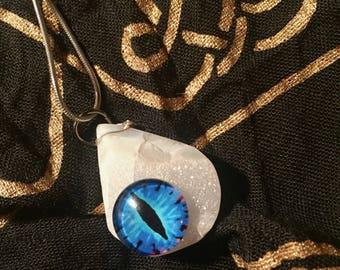 Blue Eye White Druzy