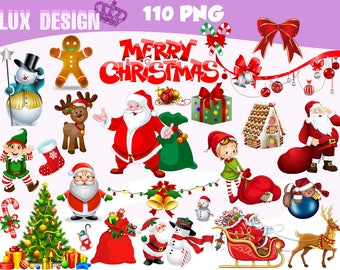 110 Christmas Clipart- PNG Images Digital, Clip Art, Instant Download, Graphics transparent background Scrapbook