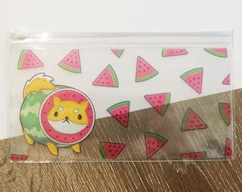 Melon Pup Clear Pencil Case - Clear Pouch