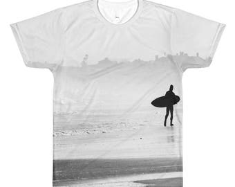 Lone Surfer All-Over Printed T-Shirt