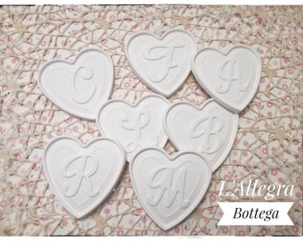 10 chalks scented at heart with letter of the alphabet ideal for any occasion favors/placeholders