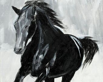 Horse Painting, Horse Art, Horse Decor, Fine Art Print - The Thoroughbred Series - Wild