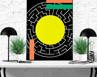 a-MAZE-ing Abstract (Amazing) Wall decor Art Design Instant Download Printable Quote for Office or Home