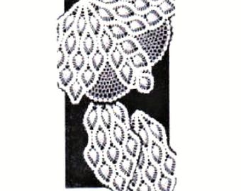 PDF Crochet pattern, Pineapple Chair Back Set in Pineapple Design,Alice Brooks