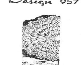 PDF Crochet Pattern, circular Tablecloth, Pineapple Design 957