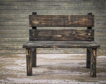 Wooden Bench Photography Prop,Wood Park Bench Photo Prop,Ideal For outdoor Photo Shoots