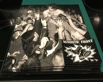 """Agnostic Front 11""""x14"""" shadowbox in frame"""