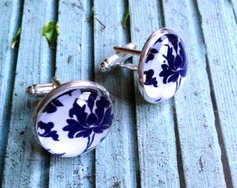 Cufflinks Delft Blue Holland