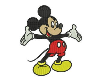 Mickey Embroidery Design #9 - 3 SIZES