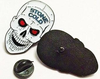 WWE WWF ECW Enamel Pin - Stone Cold - Wrestling Hasbro - Lapel Enamel Metal Pin Badge