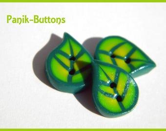 Handmade leaf button