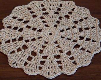 Crochet Lace ,Doily Crocheted ,Doilies ,Housewarming, Gift Home, Wedding Decor, Handmade Decoration Cotton ,Textile Art Vintage