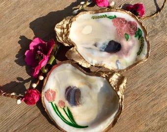 Mini Flower Detail Oyster Dish