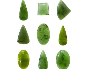 Serpentine Cabochons Natural, Non Heated, Non Treated, Mix Sizes & Shapes Gemstones With Beautiful Inclusion At Wholesale Price