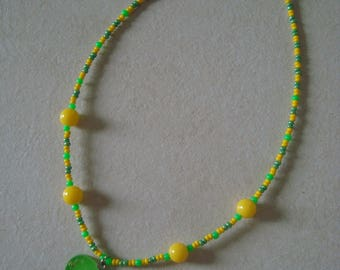 Green Girl Heart Necklace