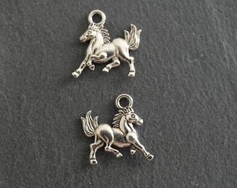 14 x 16mm Tibetan Silver Horse charm
