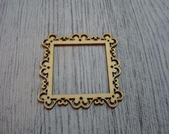 Frame 1521 15 X 15 cm wooden Littles embellishment
