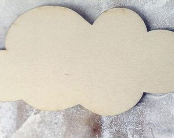 Cloud 801 various size embellishment wooden creations