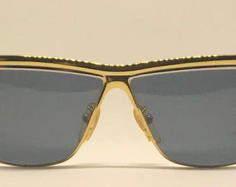 Charme 7509 / Vintage Sunglasses / Brand New / Unworn / Hand Made In Italy / Gold Sunglasses