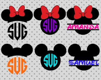 Disney monogram, Disney monogram svg, Minne svg, Minnie monogram, Mickey svg, Minnie monogram svg, Mickey monogram svg, Disney cricut