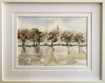 Reflections, Framed Original Watercolour Painting