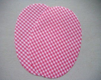 x 2 elbow patches and iron-on knee checkered red and white 14 x 9.5 cm