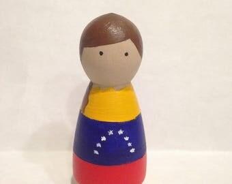 Custom Country Peg doll