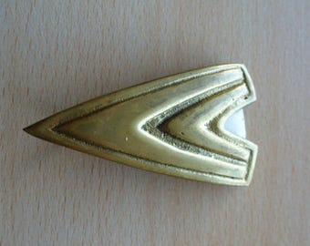 belt buckle vintage brass handmade 7.3 cm