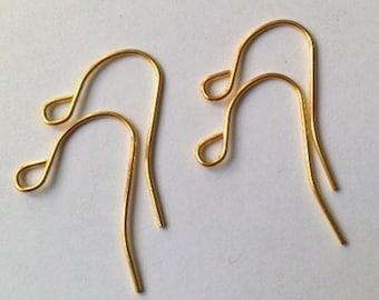 Earrings simple hook gold plated