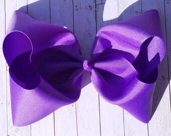 Purple Large JoJo Style Hair Bow