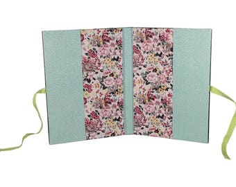 Health booklet protection cover stiff Green 2 tone