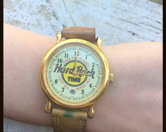 70s Hard Rock Cafe Time watch // Collectors Item