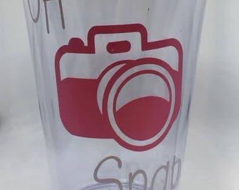 Oh Snap Tumbler , photographer tumbler, photography , photographer gift